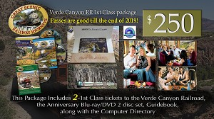 Verde Canyon Railroad 1st Class Ticket package